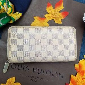 Louis Vuitton Long Zippy wallet Ivory Canvas